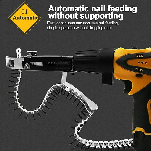 Handheld With Screws Automatic Electric Woodworking Tool Adjustable Stainless Steel Chain Nail Adapter Accessories Household