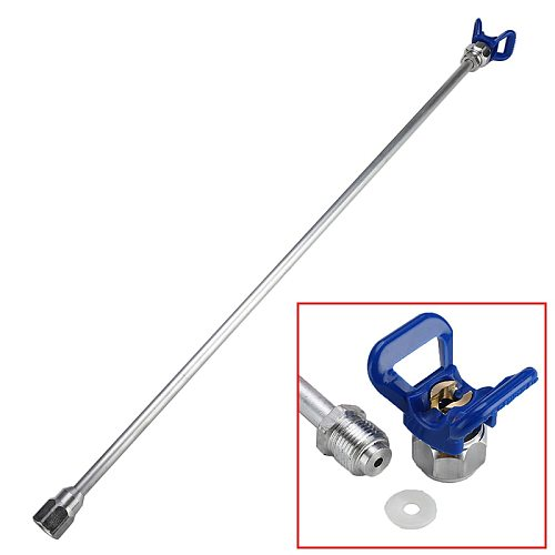 20/30/50/75cm Sprayer Extension Rod Airless Paint Spray Gun Tip Extension Pole Rod Aluminum Alloy Tool For Spraying Machine