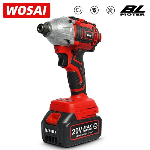 WOSAI 20V Electric Screwdriver battery 300NM Brushless Cordless Screwdriver Impact Drill Impact Driver Rechargeable Driver