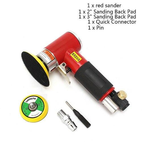 2inch 3inch Mini Air Sander Kit Pad Eccentric Orbital Dual Action Pneumatic Polisher Polishing Buffing Tools For Auto Body