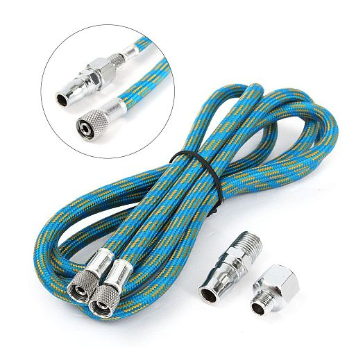 180CM Braided Airbrush Compressor Air Hose Spray Pen Woven Pipe 1/8  BSP Adaptor Fitting Compressor Airbrush