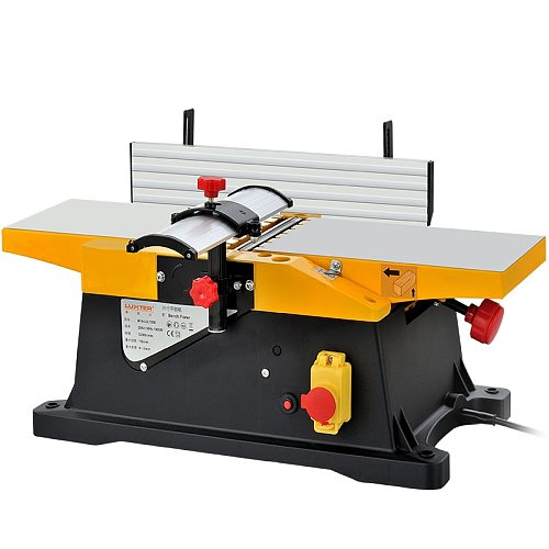 Free Shipment and custom tax in Saudi Arabia AC220V1800W 6 inch 0-3mm small bench wood planer,high speed woodworking planer