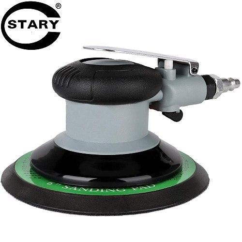STARY 6  Professional Air Random Orbital Palm Sander 3.0mm Eccentricity Dual Action Pneumatic Sander Pro Grinding Sanding Tools