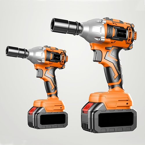 Electric Impact Wrench 580Nm 680Nm 880Nm Infinitely Cordless Speed Brushless Motor Electric Wrench Rechargeable Lithium Battery