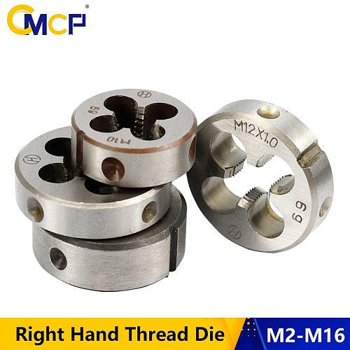 1pc M2 M6 M7 M8 M10 M12 M13 M14 M16 Right Hand Thread Die Metric Screw Die Threading Tools Round Threading Die