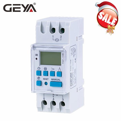 GEYA Astronomical Timer Switch LCD Display 16A 20A 30A Timing Control Latitude Switch 110V 220V Astronomic Switch