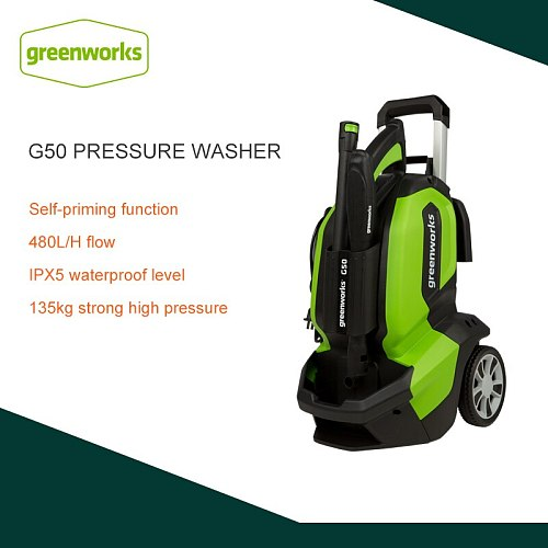 Greenworks G50 220V Portable Electric Pressure Washer 1900W High Powerwash Cleaning Jet Pressure Washer For Car Wash Flushing