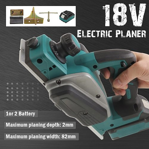18V Electric Planer Industrial Grade Woodworking Press Portable Planer Multifunctional Lithium Electric Planer