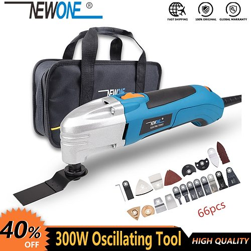 NEWONE 120V/220V 300W Electric Multi-function Oscillating Tool Kit Renovator Multi-Tool Tool Electric Trimmer Saw Accessories