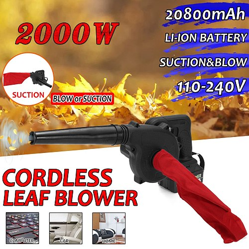 110-240V Cordless Electric Air Blower Handheld Leaf Blower & Suction 20800mAh Lithium Battery Computer dust collector cleaner