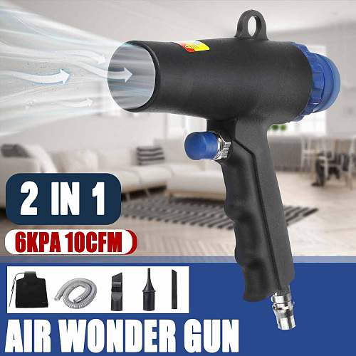 2 In 1 Air Duster Compressor Dual Function Air Vacuum Blow Suction Guns Kit Pneumatic Vacuum Cleaner Tool
