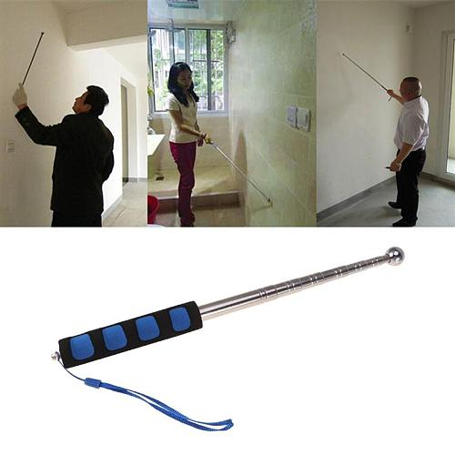 98CM Hollowing Drum Hammer Sound Detection Hammer Home Inspection Tool Telescopic Rod Detection Hammer Test Hammer (Blue)