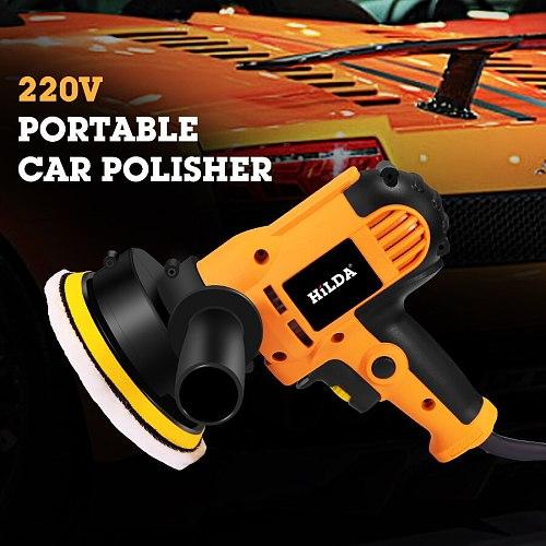 Electric Car Polisher Machine 220V Auto Polishing Machine Adjustable Speed Sanding Waxing Tools Car Accessories Powewr Tools