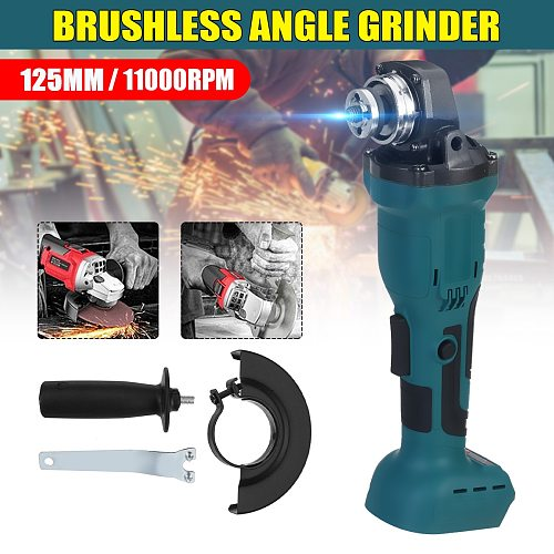 18V 800W 125mm Brushless Cordless Impact Angle Grinder without battery DIY Power Tool Cutting Machine Polisher Fr Makita Battery
