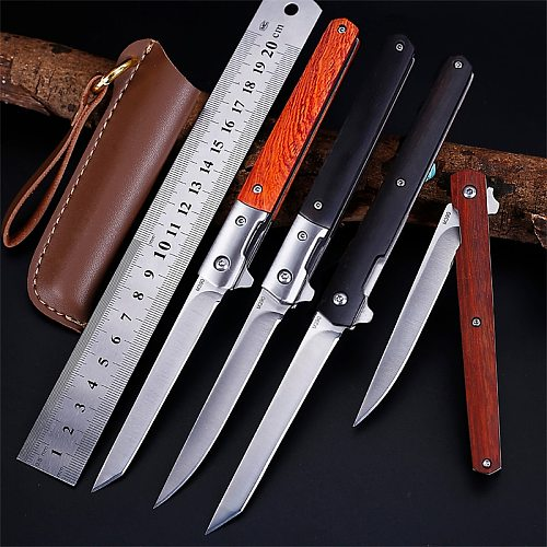 AIBODUO flipper fold knife M390 blade drop point rescue 58HRC handle knives outdoor camping hunting knife slicing fruit knives