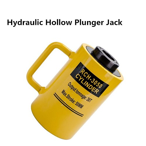 30 ton 50mm hydraulic hollow plunger jack,hollow plunger ram,hydraulic hollow cylinder RCH-3050