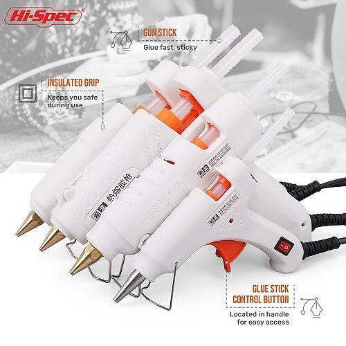 Hi-Spec 40W 80W 100W  120W 150W EU/ Plug Hot Melt Glue Gun 7mm Glue Stick Industrial Mini Guns Adhesive Woodworking Tool