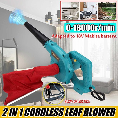 Cordless Electric Air Blower Handheld Leaf Computer Dust Collector Cleaner Tool Blower & Suction For Makita 18V Li-ion Battery
