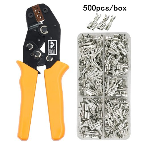 COLORS SN-48B wire crimping plier 0.5-2.5mm2 20-13AWG precision jaw with 500pcs/lot TAB 2.8 4.8 terminals sets tools