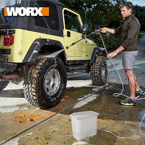 WORX 20V lithium battery high pressure cleaner WG629E self-priming portable car high pressure washer