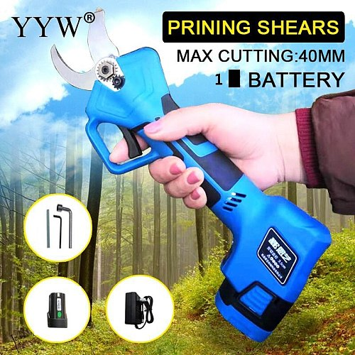 Blue Secateurs Electric Scissors Garden Tree Pruning Shears Garden Electric Pruner Secateur Branch Cutter Shears Cutting Tools