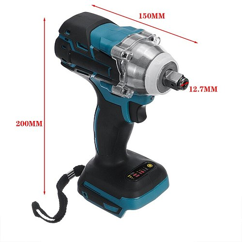 18V Impact Wrench Brushless Cordless Electric 1/2 Socket  Wrench Power Tool 520N.m Torque Rechargeable For Makita Battery