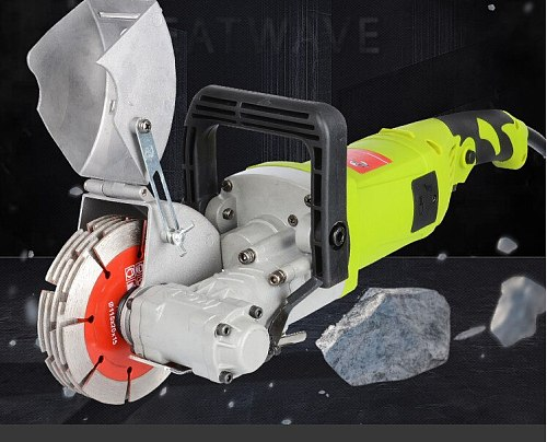 Wall chaser slotting machine one-time cutting machine high-power dust-free hydropower project installation wall concrete