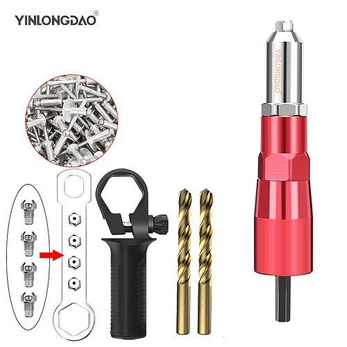Power drill Rivet Nut Gun Riveting Tool Cordless Riveting Drill Adaptor Insert Nut Power Tool Accessories with 50PC Nut
