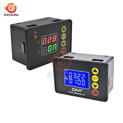1.37 Inch Programmable Digital Timer Switch Relay Control DC 12V 24V 20A AC 110V 220V 10A Time Controller Delay Relay Module