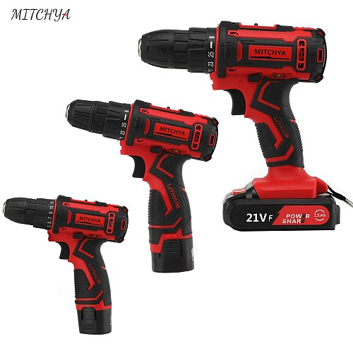 Cordless Drill Power Tools 12V 16.8V 21V Multifunction High and Low speed Rotary tool Electric Cordless Screwdriver