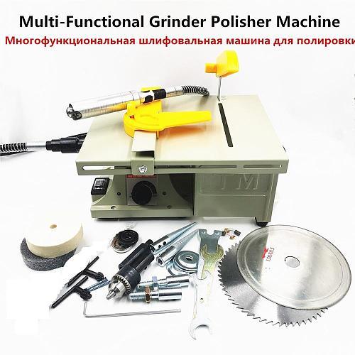 220V 350W Polishing machine for DIY Woodworking jadeJewelry Dental Bench Lathe Machine Motor Grinding machine