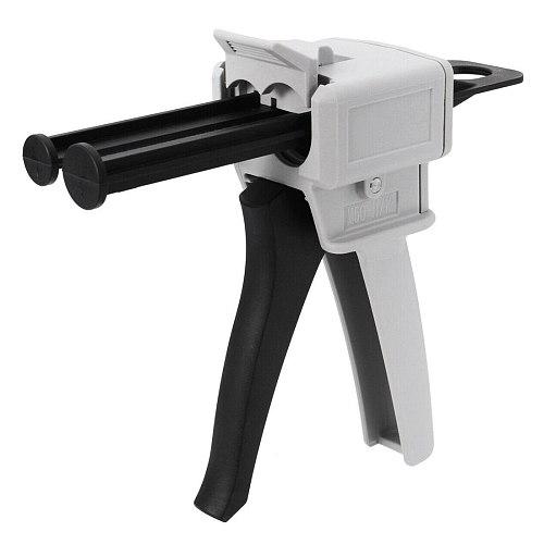 Glue Gun 50ml Two Component AB Epoxy Sealant Glue Gun Applicator Glue Adhensive Squeeze Mixed 1:1 Manual Caulking Gun Dispenser