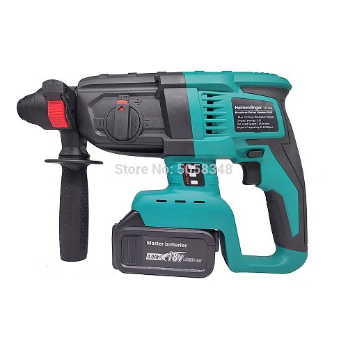 rechargeable brushless cordless rotary hammer drill electric Hammer impact drill with two 18V 4000mAh battery