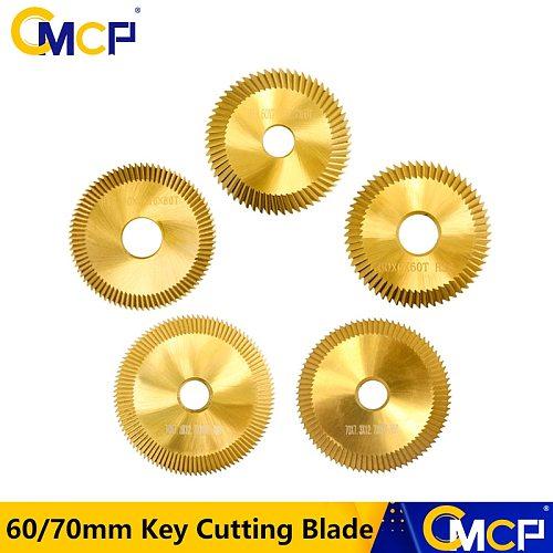 CMCP 1pc HSS 60mm/70mm Key Cutting Machine Blade For Duplication Key Machine Milling Cutter Key Cutting Blade Locksmith Tool