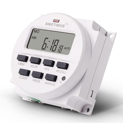 LCD Digital Display 7 Days Programmable Timers Switch 12V 24V 110V 220V AC DC Weekly Hour Minute Control Timer With Countdown