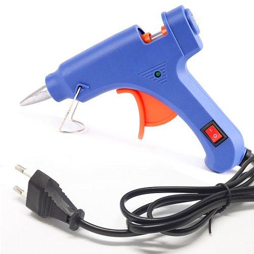 High Temp Heater Melt A Hot Glue Gun 20W Repair Tool Mini Heat Gun EU Plug use 7mm Glue Sticks Electric Heat Temperature Tool