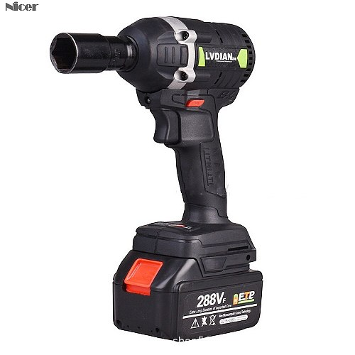 288VF Cordless Electric Impact Wrench With Rechargeable Battery Impact Drill Brushless LED Light 1/2 Socket Power Tools