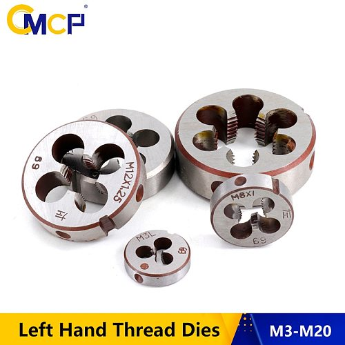 CMCP 1pc M3 M6 M8 M10 M12 M14 M16 M18 M20 Left Hand Thread Dies For Metal Working Threading Tools Metric Screw Dies
