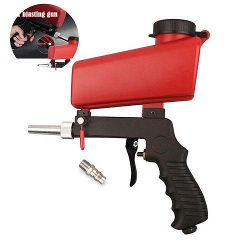 Portable Gravity Pneumatic Sandblasting Guns 90psi Adjustable Small Air Blasting Machine Derusting Sandblasting Spray Gun Set