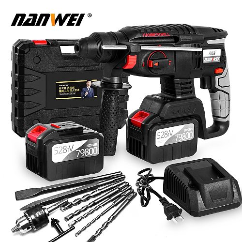 Rechargeable brushless cordless rotary hammer drill electric Hammer impact drill