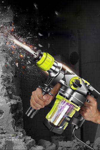 220V Electric Drills  Electric Demolition Electric Hammer Drill Concrete Breaker Punch Jackhammer 3000r/min