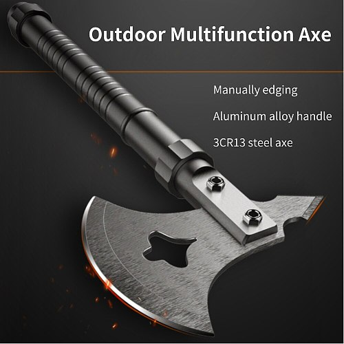 Outdoor Multifunction Axe Fire Ice Army High Carbon Steel Tactical Tomahawk Practical Axe Aluminum Alloy Handle Camping Hatchet