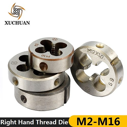 1pc M2/M6/M7/M8/M10/M12/M13/M14/M16  Right Hand Screw Thread Die Metric Machine Die Hand Tapping Tools