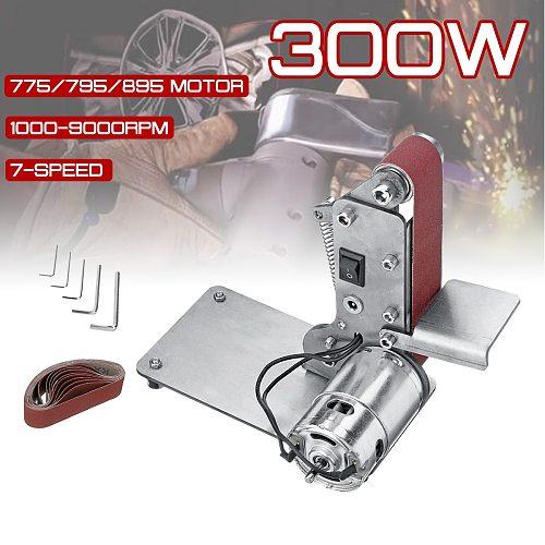 Sander Belt Machine 300W Electric Belt Sander Polishing Grinder Machine Folding Sander Grinding Tool Cutter Edges Sharpener
