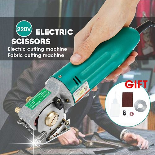 Rotary Blade Electric Round Knife 220V US 70mm Cloth Cutter Fabric Cutting Machine Leather Fabric Cutting Tools