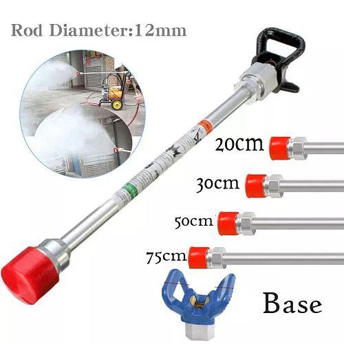 20-75cm Airless Paint Sprayer Spray Gun Extension Pole Rod Base