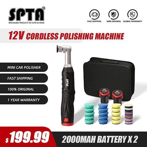 SPTA 12V Micro Cordless Swirl Killer Polisher RO/DA Mini Car Polisher for polishing, sanding and cleaning