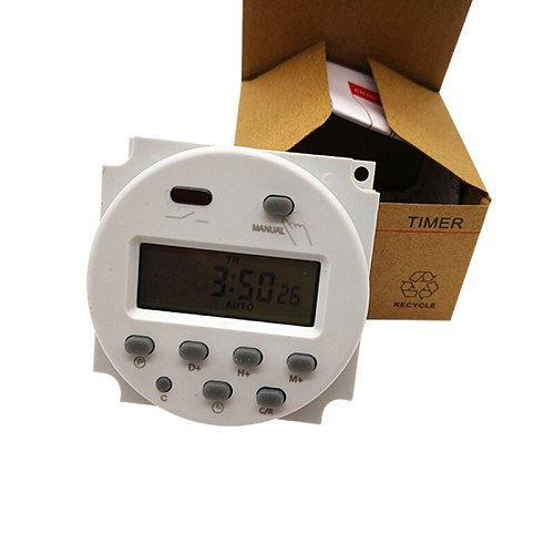 CN101A 12V/24V/110V/220V  Single and double countdown micro cycle time control switch timer controller seconds control 16A