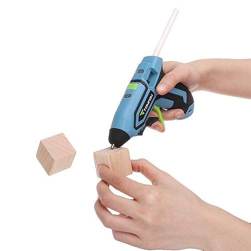 Tonfon Original 3.6V Cordless Hot Glue Guns USB Rechargable Melt Glue Guns Kits with 10 Glue Sticks for DIY Handwork