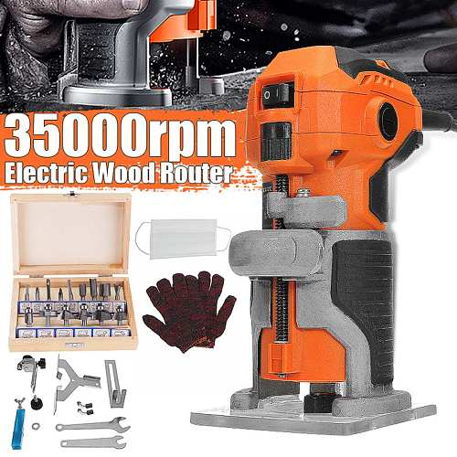 220V Electric Trimmer 1280W 35000r/min Wood Trimmer Electro Tools Router Wood Milling Machine for Joiners Renovator Woodworking